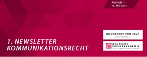 Newsletter_Kommunikationsrecht_Nr. 1