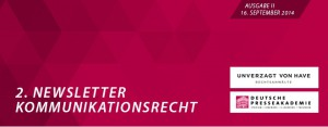 Newsletter_Kommunikationsrecht_Nr. 2