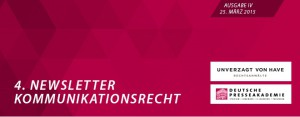 Newsletter_Kommunikationsrecht_Nr. 4